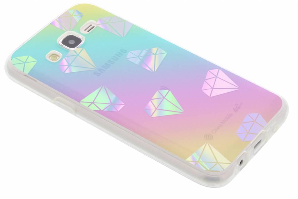 Holographic diamonds case voor de Samsung Galaxy J5