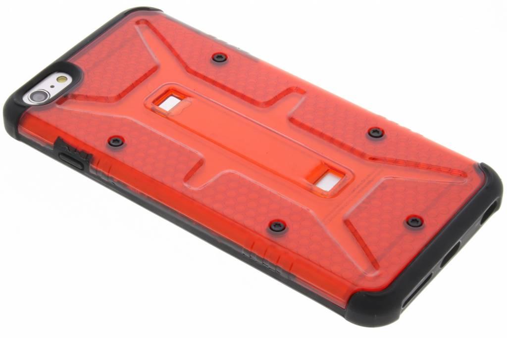 Transparante rode Xtreme defender hardcase voor de iPhone 6(s) Plus