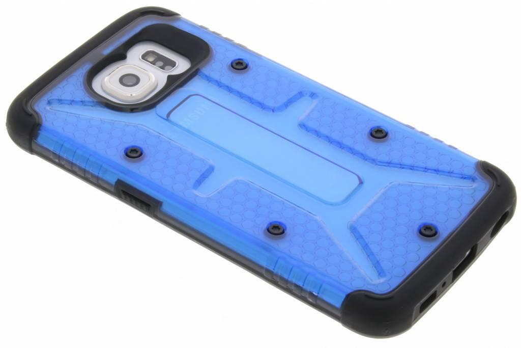 Transparante blauwe Xtreme defender hardcase voor de Samsung Galaxy S6