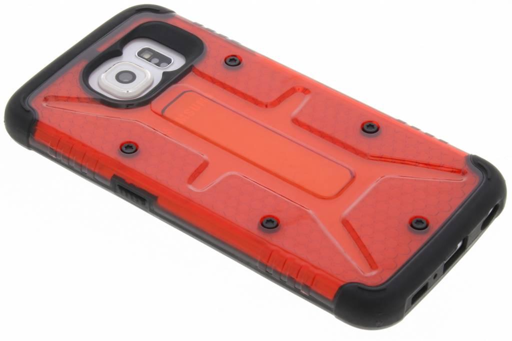 Transparante rode Xtreme defender hardcase voor de Samsung Galaxy S6