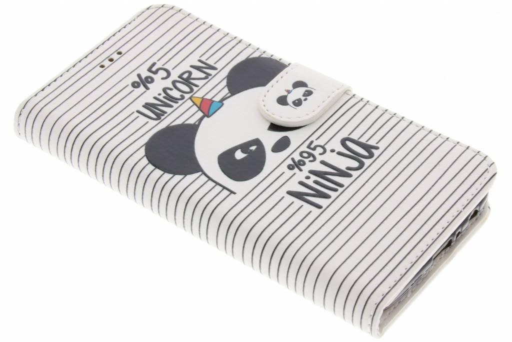 Panda design TPU booktype hoes voor de Motorola Moto G5 Plus