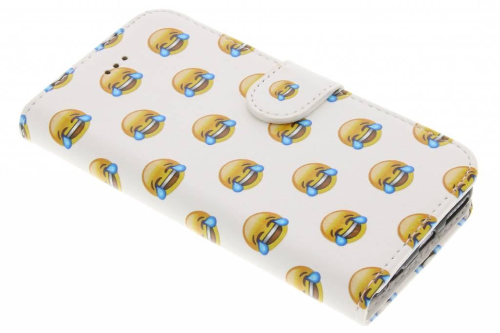 Emoji lachen design TPU booktype hoes voor de iPhone 6 / 6s