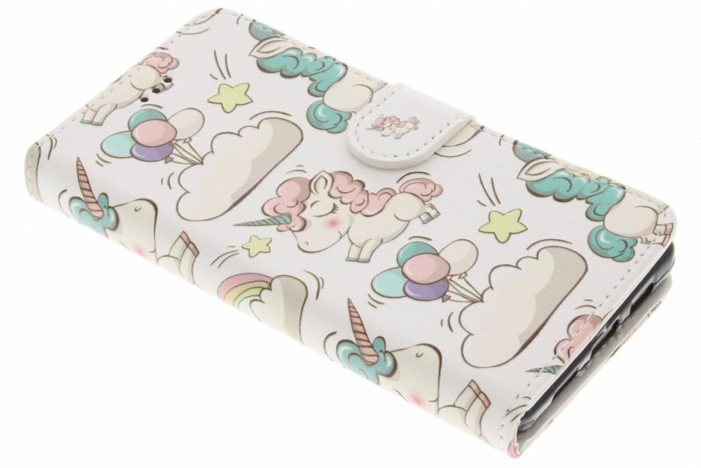 Unicorn design TPU booktype hoes voor de Huawei P8 Lite