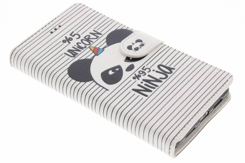 Unicorn ninja design TPU booktype hoes voor de Huawei P9 Lite