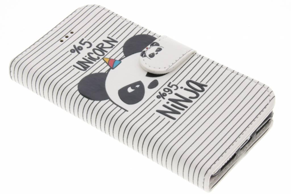 Unicorn ninja design TPU booktype hoes iPhone 8 / 7