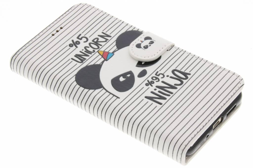 Unicorn ninja design TPU booktype hoes voor de Huawei P10 Lite