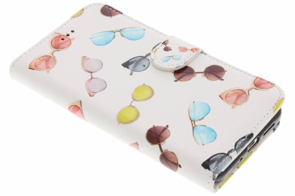 Zonnebrillen design TPU booktype hoes voor de Huawei P10 Lite