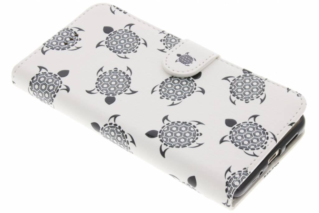 Schildpad design TPU booktype hoes voor de Huawei P10 Lite