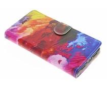 Design TPU booktype hoes Huawei P9 Lite