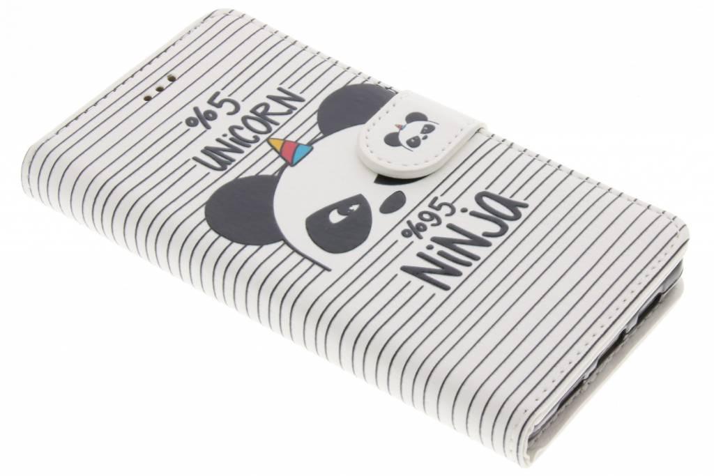 Unicorn ninja design TPU booktype hoes voor de Huawei P8 Lite