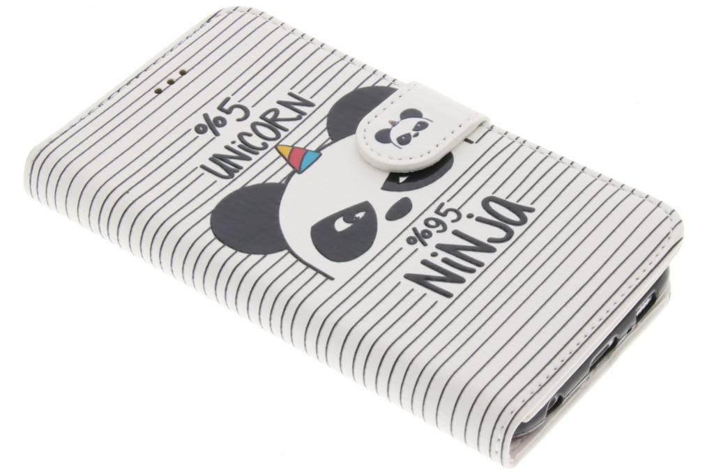 Unicorn ninja design TPU booktype hoes voor de Samsung Galaxy S6
