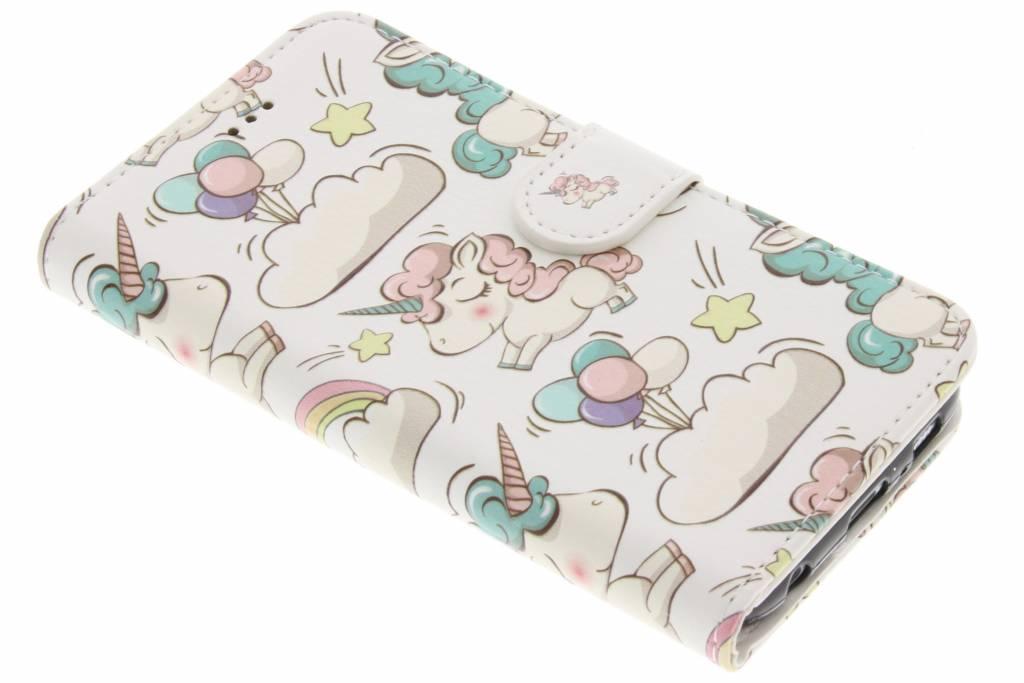 Unicorn design TPU booktype hoes voor de Samsung Galaxy S6