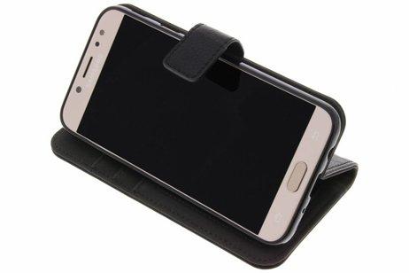 Cuir Luxe Noir Boîtier De Type Livre Pour Samsung Galaxy J3 (2017) Irkz4