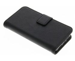 Zwart luxe leder booktype hoes iPhone 5 / 5s / SE