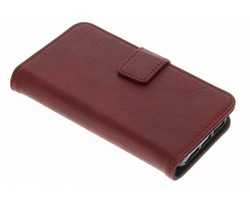 Rood luxe leder booktype hoes iPhone 5 / 5s / SE
