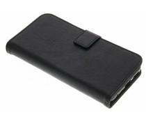 Zwart luxe leder booktype hoes LG G6