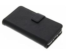 Zwart luxe leder booktype hoes Samsung Galaxy A3