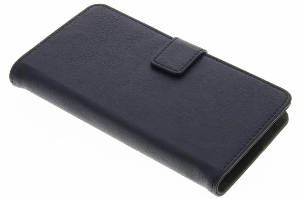 Blauwe luxe leder booktype hoes voor de Motorola Moto G4 Play