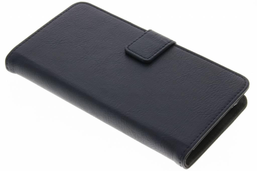 Blauwe Luxe leder booktype hoes voor de Samsung Galaxy J5