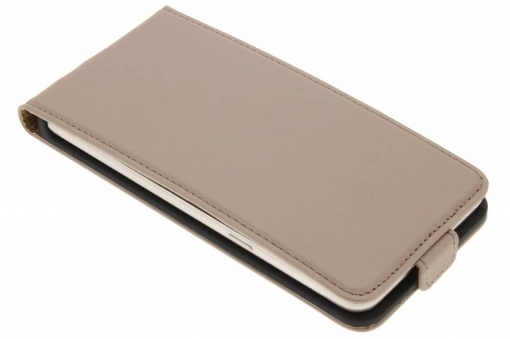 Cas Flip En Cuir De Luxe Or Pour Samsung Galaxy J7 adbeSH