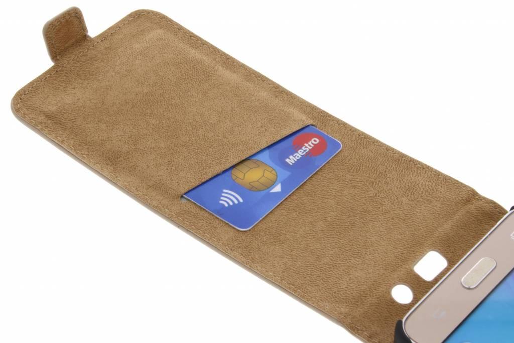 Cas Flip En Cuir De Luxe Or Pour Samsung Galaxy J7 hkCdUbDn