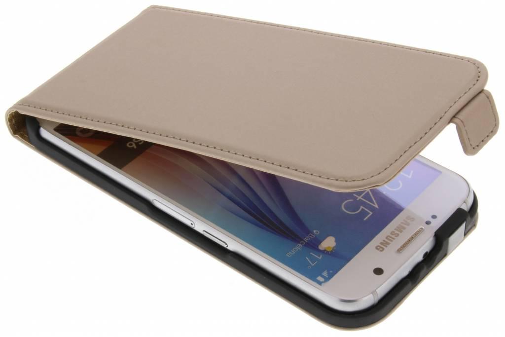 Gouden Luxe Flipcase flipcase voor de Samsung Galaxy S6