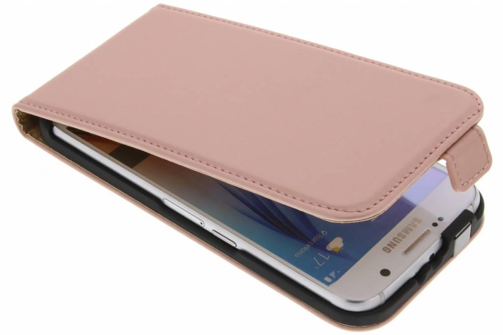 Rosé Gouden Luxe Flipcase flipcase voor de Samsung Galaxy S6