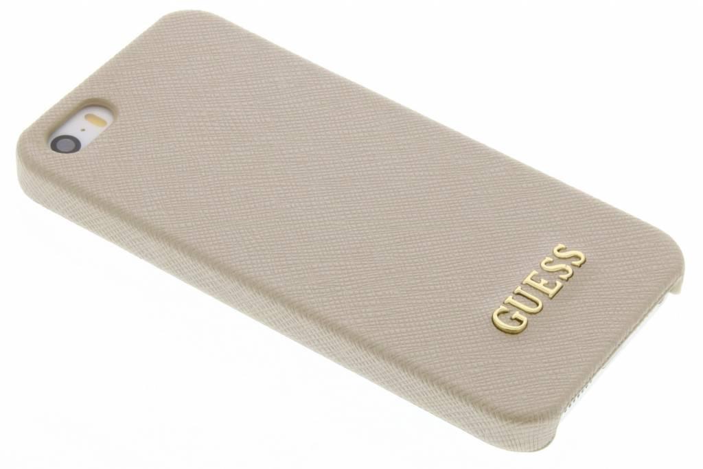 Guess Saffiano Collection Hard Case voor de iPhone 5 / 5s / SE - Goud