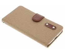 Linnen TPU booktype hoes Motorola Moto G4 (Plus)