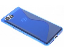 Blauw transparant S-line TPU hoesje Blackberry KeyOne