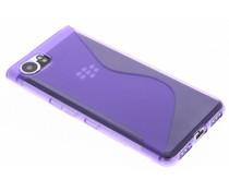 Paars transparant S-line TPU hoesje Blackberry KeyOne