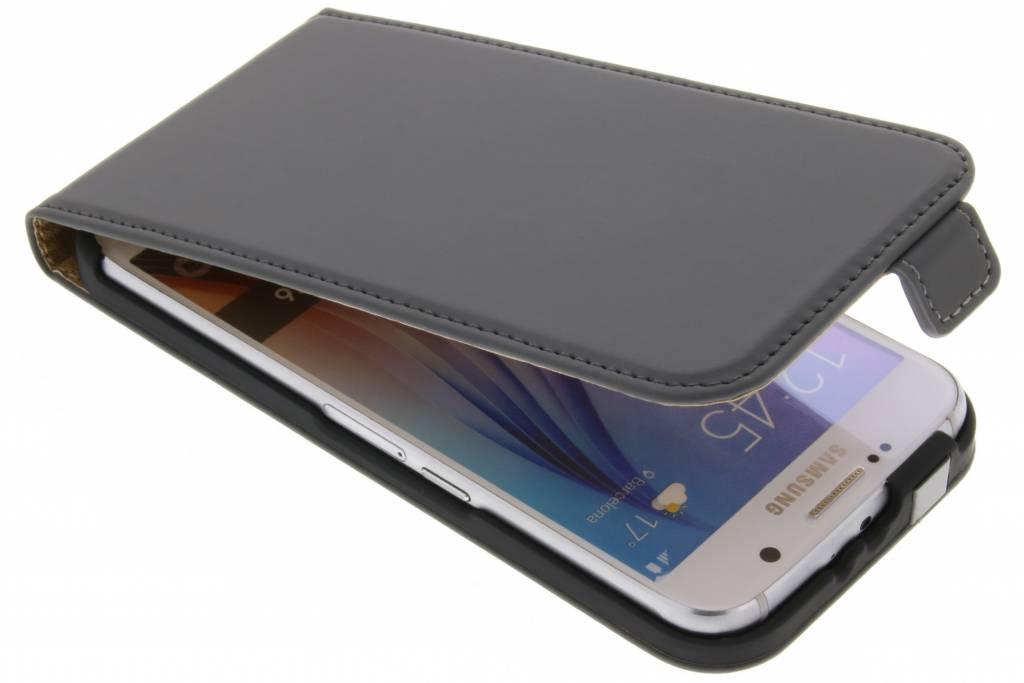 Donkergrijze Luxe Flipcase voor de Samsung Galaxy S6