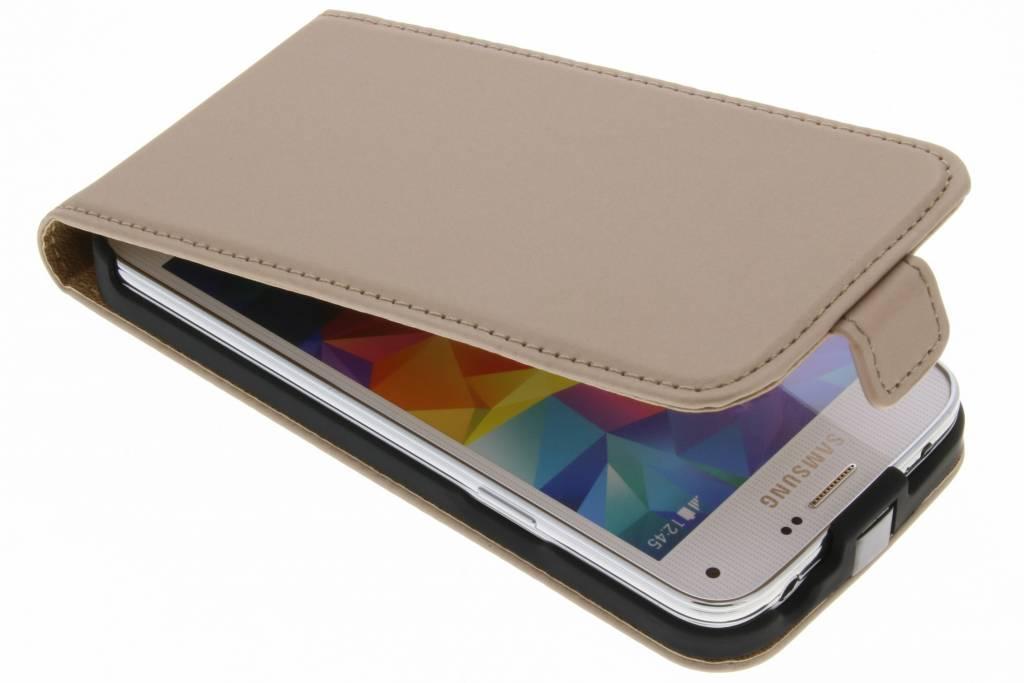 Flip Case De Luxe D'or Pour Samsung Galaxy S5 Mini WUxhP