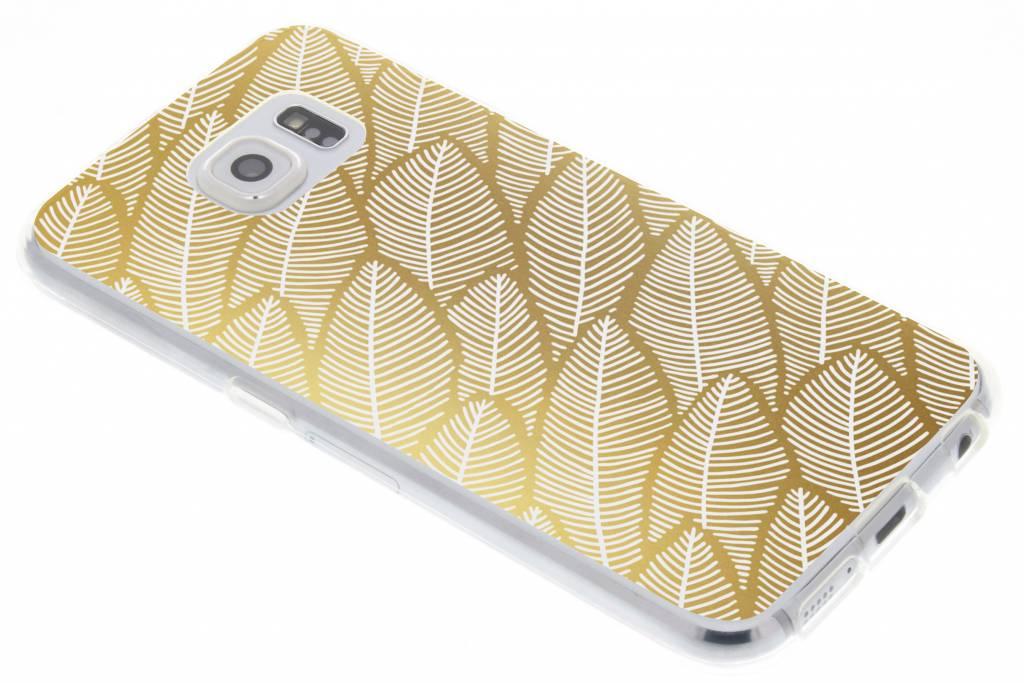Gold Leaves design voor de Samsung Galaxy S6