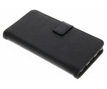 Zwart luxe leder booktype hoes Huawei P8