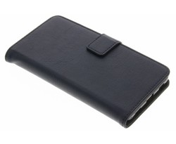 Donkerblauw luxe leder booktype hoes Huawei P8