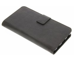 Grijs luxe leder booktype hoes Huawei P8