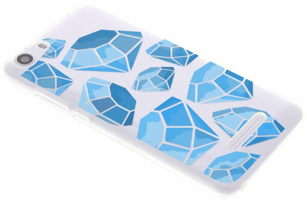 Blue diamonds design TPU hoesje voor de Wiko Lenny 2