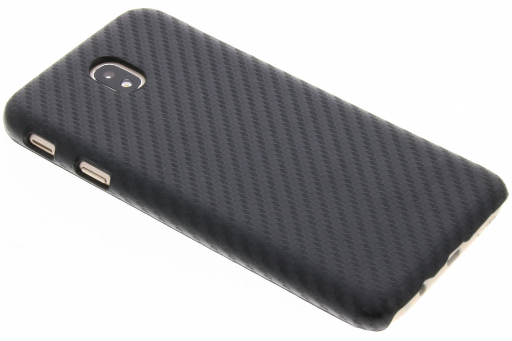 Zwart Carbon look hardcase hoesje voor de Samsung Galaxy J7 (2017)