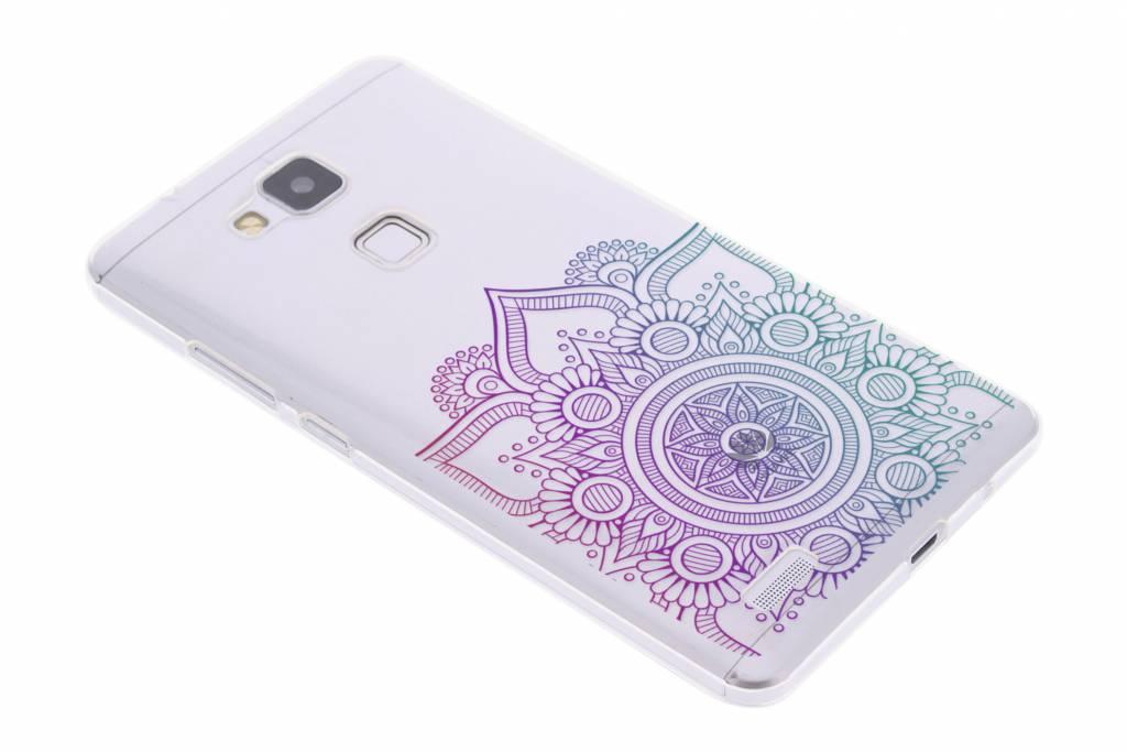 Multicolor mandala design TPU hoesje voor de Huawei Ascend Mate 7
