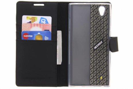 Porte-monnaie Noir Livret Pour Sony Xperia Tpu L1 1WZrrUOc1