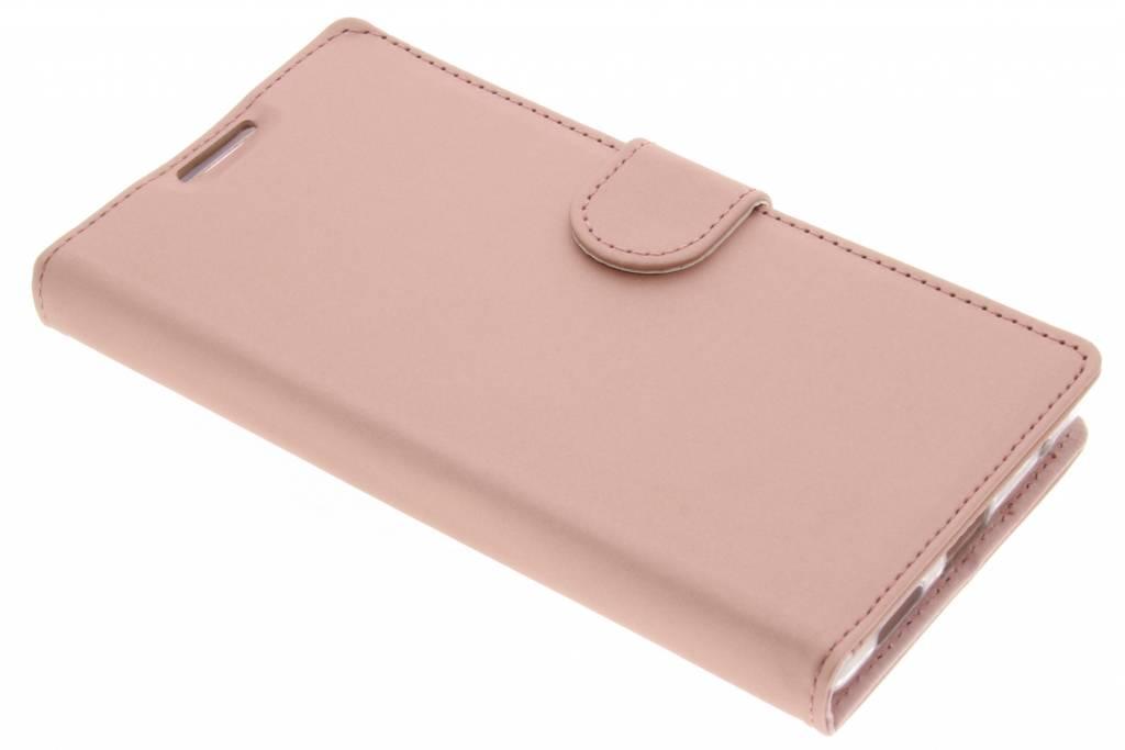 Accezz Rosé Gouden Wallet TPU Booklet voor de Sony Xperia L1