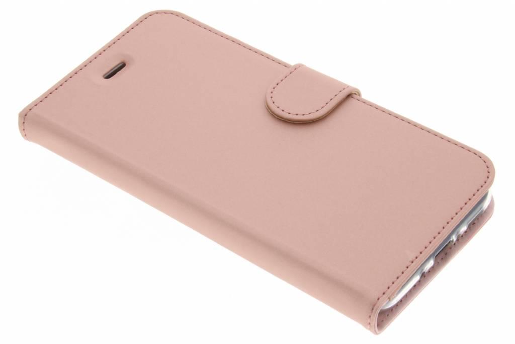 Accezz Rosé Gouden Wallet TPU Booklet voor de HTC U11