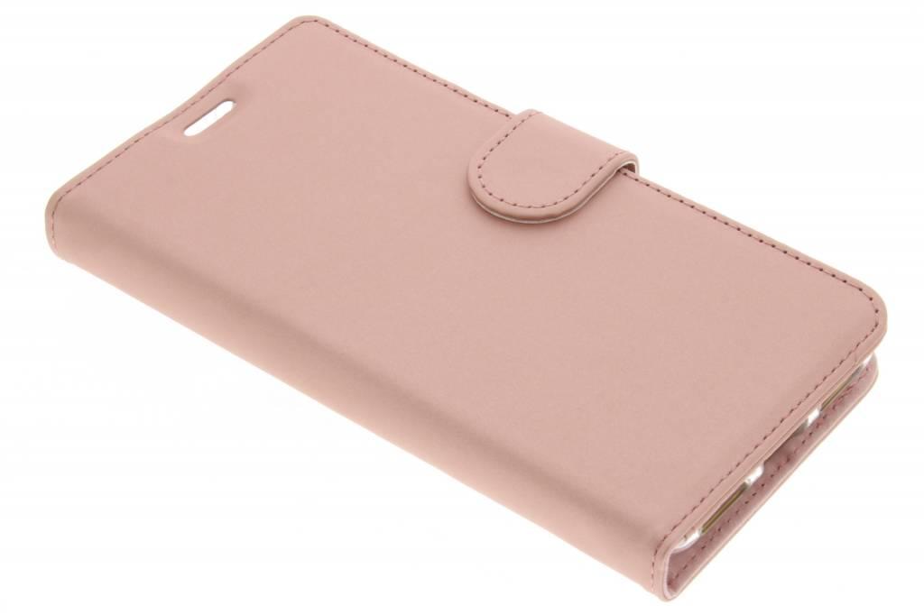 Accezz Rosé Gouden Wallet TPU Booklet voor de BlackBerry KeyOne