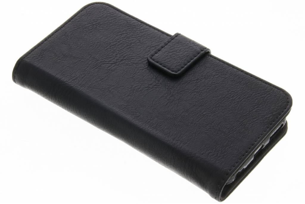 Zwarte luxe leder booktype hoes voor de iPhone 6