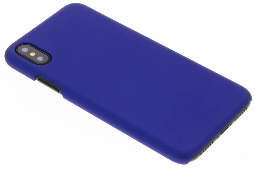 Blauw effen hardcase hoesje voor de iPhone Xs / X