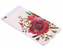 Red Rose TPU hoesje Huawei P8