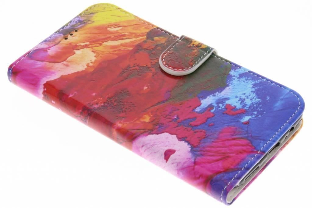 Colorful design TPU booktype hoes voor de OnePlus 5
