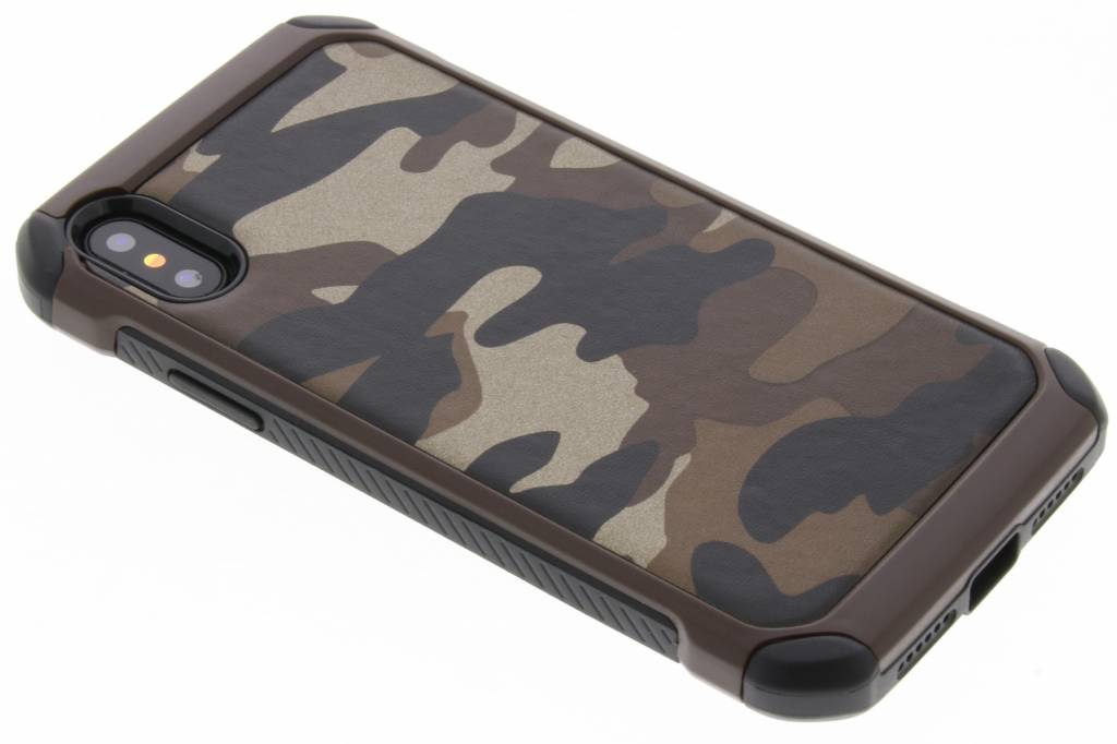 Bruin army defender hardcase hoesje voor de iPhone X