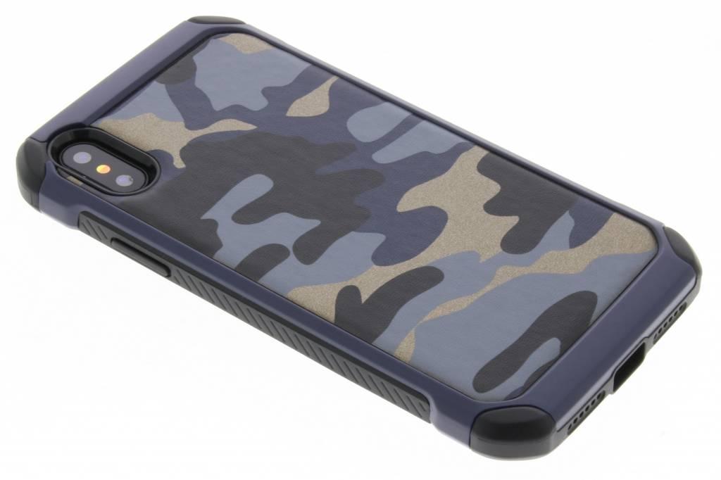 Blauw army defender hardcase hoesje voor de iPhone X